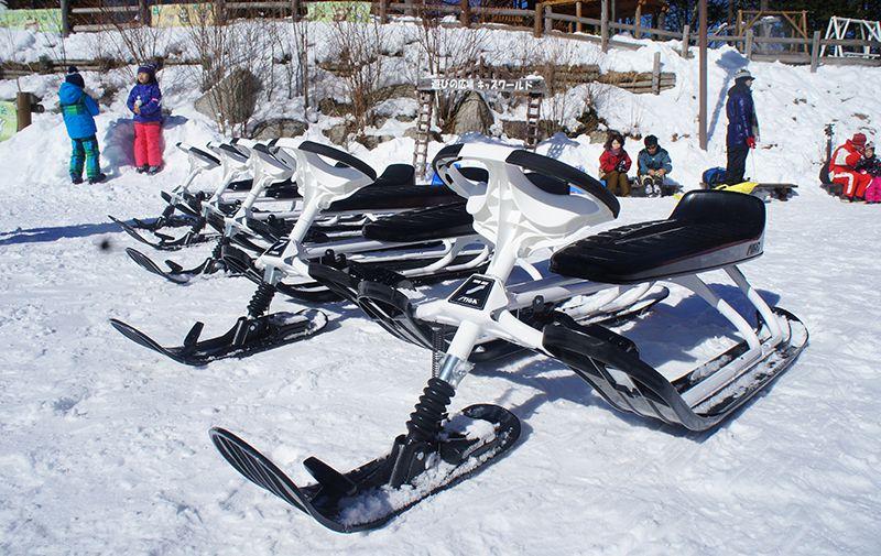スノーレーサーに乗って雪の上で遊ぼう!