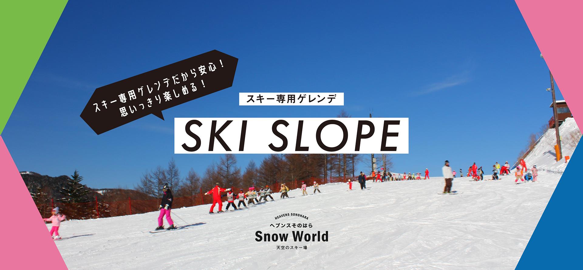 スキー―専用ゲレンデ